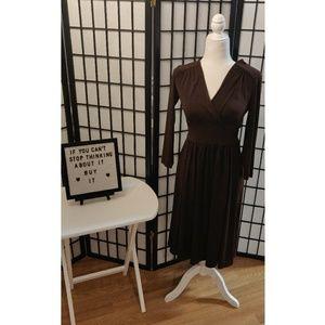 Donna Morgan Brown Dress